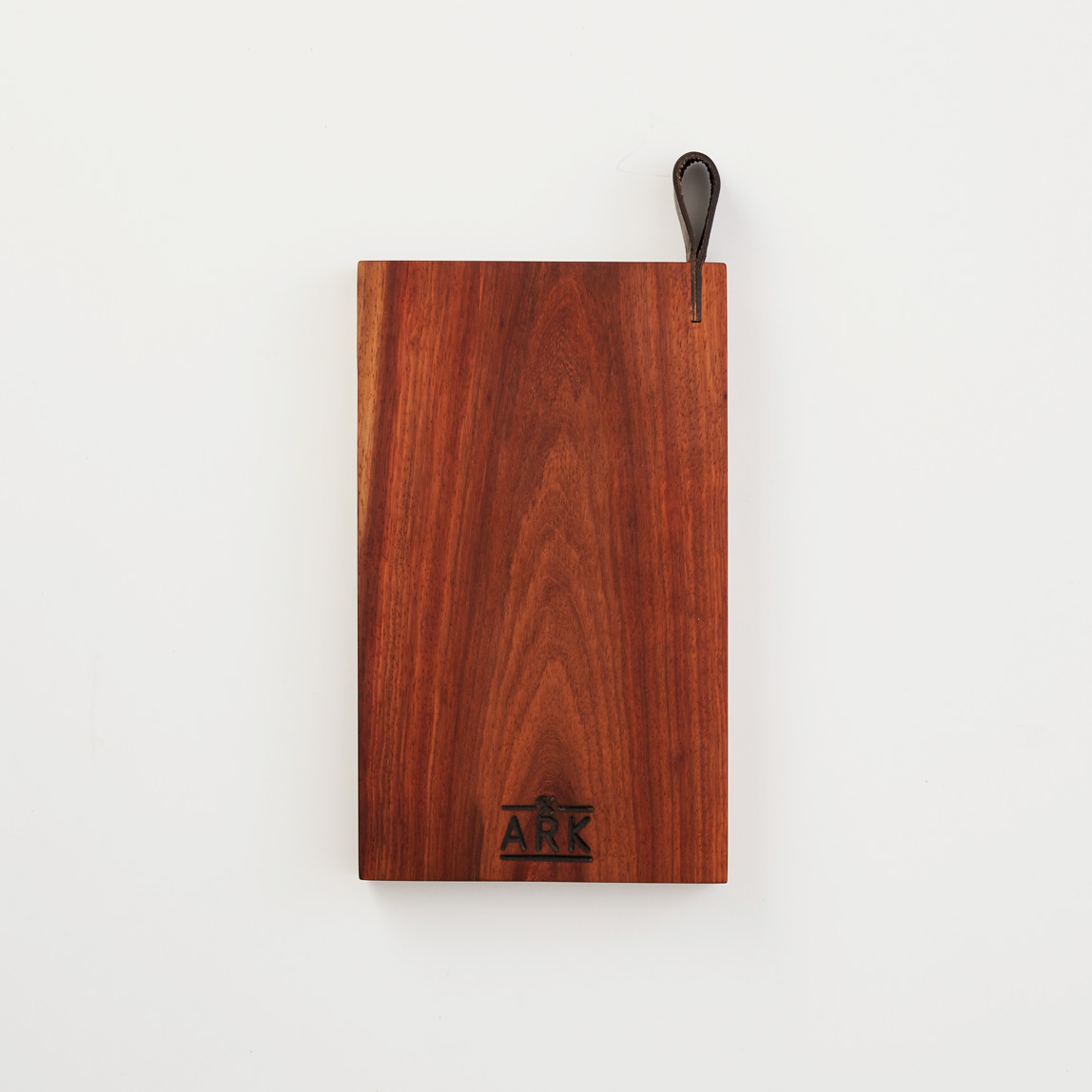 Kiaat Wood Kitchen: Serving Board With Leather Detail Kiaat Large